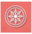 Stamp of snowflake with shadow vector