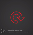 Reload outline symbol red on dark background logo vector