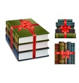 New book with bow vector