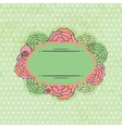 Vintage frame on floral background vector