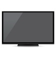 Modern blank flat screen tv isolated on white back vector