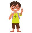 Schoolboy character vector