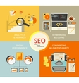Infographic flat concept of seo vector