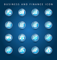 Business and finance set of icon vector