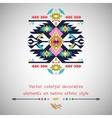 Decorative element on native ethnic style vector