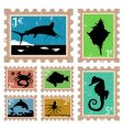Animal stamps vector