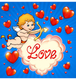 Valentines day card with cupid vector