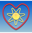 Sun in the heart vector