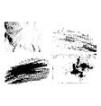 Grunge texture backgrounds set vector