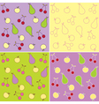 Fruit seamless backgrounds vector