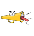 Angry megaphone vector