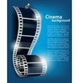 Film reel on blue background vector