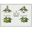 Real estate logo eco home vector