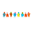 Saturday colorful title - paper cut people and vector