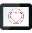 Love heart icon vector