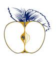 Apple seed vector