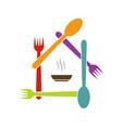 Logo for a restaurant vector