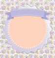 Postcard lilac snowflakes colorful circles vintage vector