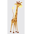 Fun cartoon giraffe sticker vector