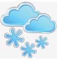 Icon of snow weather vector