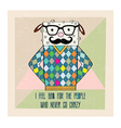 Cool sheep hipster hand draw vector
