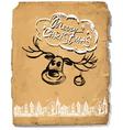 Hand drawn congratulation christmas greeting card vector