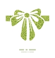 Abstract green natural texture gift bow vector