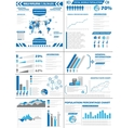 Infographic demographics population vector