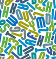 Seamless pattern with alphabet letters vector