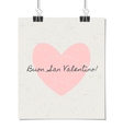 Italian st valentines day poster vintage design vector