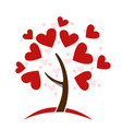Love hearts tree vector