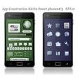 Ui elements for smart phone vector