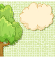 Abstract cartoon tree vector