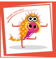 Colorful monster on white background vector