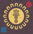Spring african sun symbol vector