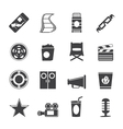 Simple cinema and movie icons vector