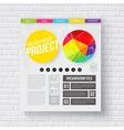 Business report presentation template vector