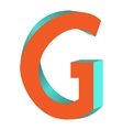 Twisted letter g logo icon design template element vector