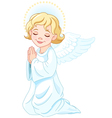 Praying angel vector