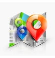 Map navigation icon vector