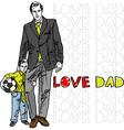 Dad love vector