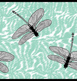 Dragonfly seamless background isolated high qualit vector