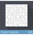 Puzzle template vector