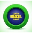 Web button using brazil flag colors vector