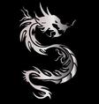 Silver dragon vector