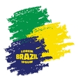 Grunge smears using brazil flag colors vector