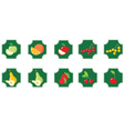 Fruits set of icons vector