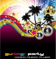 Tropical musical event background vector
