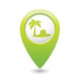 Beach icon green map pointer2 vector