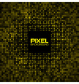 Abstract pixel yellow bright glow background vector
